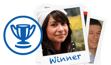 trophy icon with image of winning student